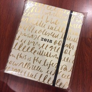 """Kate Spade large 2018 planner """"this is the life"""""""